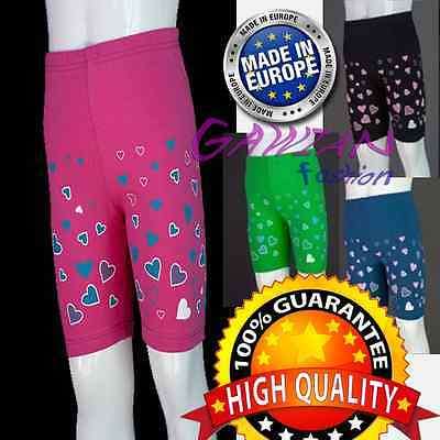 Girls Babys Over-Knee Short 12 Colors Hearts School Sports Gym PE 4M - 11 Years
