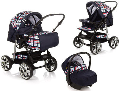 ★★★ Kombi Kinderwagen 3in1 Pascal Push Chair Pram Buggy Stroller Autositz ★★