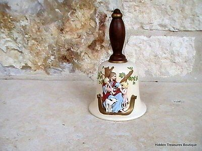 Hand Painted Ceramic Bell Jesus & Children