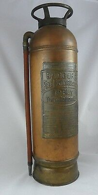 Great Vintage Copper/Brass Badger's Fire Extinguisher Loose Stopple type (Empty)