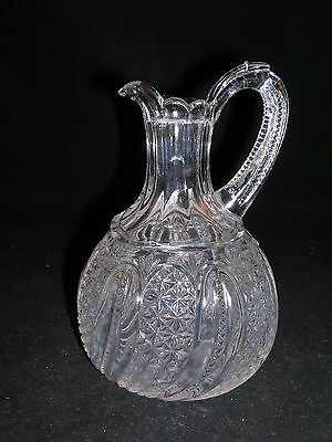 EAPG FEATHER CRUET - NO STOPPER - MCKEE - CAMBRIDGE - INDIANA GLASS - CA 1896