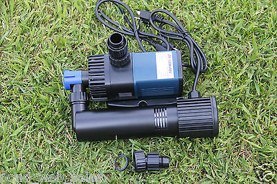 1550GPH Koi Pond Pump - Mag Drive, Extremely Efficient + 9watt UV Sterilizer