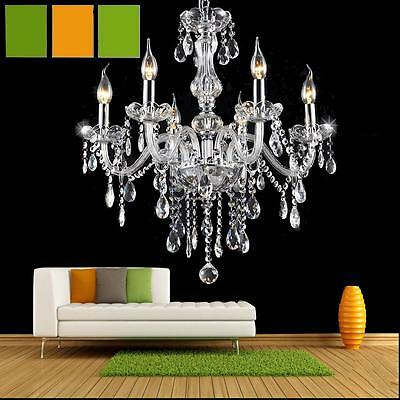 Home 6 light Marie Therese Crystal beads Chandelier Pendant Ceiling Light Lamp
