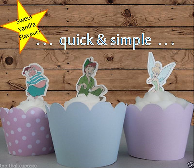Peter Pan & friends stand up EDIBLE wafer cupcake cake toppers birthday