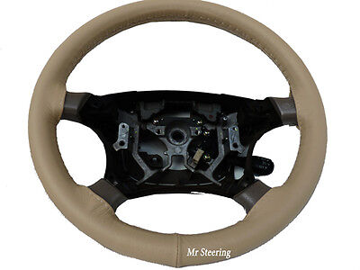 Fits Vw Eos 06-12 Real Beige Italian Leather Steering Wheel Cover Top Quality