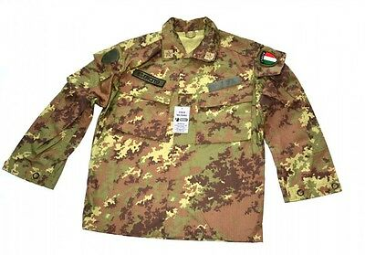 VEGETATO CAMO ACU Jacket Digital Camouflage Shirt Italian Army Rip-Stop NEW