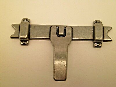 [10] Mid-Century AMEROCK Pewter Furniture CABINET Pull HANDLE DRESSER HOOK  SC