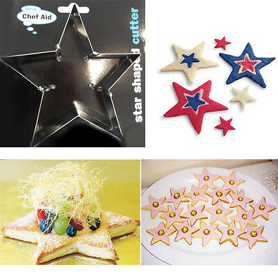 Star Shaped Cookie Biscuit Metal Cutter Decorating Baking Mold Christmas Kids
