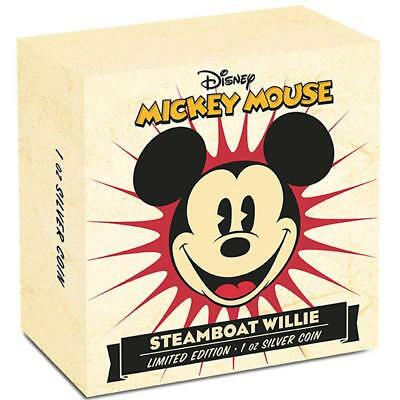Niue - 2014 - Disney – STEAMBOAT WILLIE Mickey Mouse 1oz Silver Proof Coin