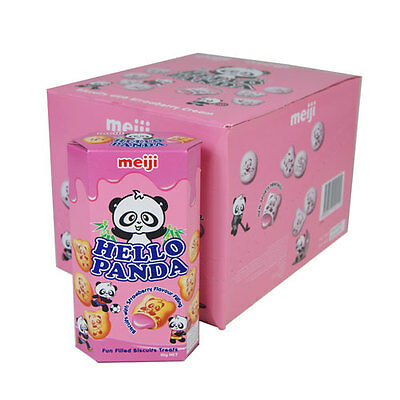 Hello Panda Strawberry Filled Biscuits - 10 X 50G