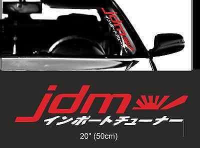"Elevated windshield sticker 24/"" 60cm royal stance classic car JDM Mugen decal"