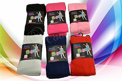 Lot 6 Pair Girl Fashion Tights Warm Solid Soft Winter Cozy XS S M L XL Pantyhose