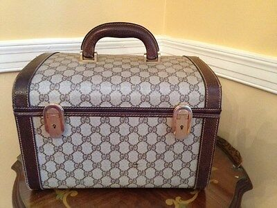 Vintage Gucci Luggage Train Cosmetic Case Very Classy and Fun