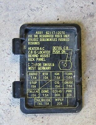Replace together with Cigarette Lighter Fuse Honda Accord 2009 also Watch further 87 Toyota Corolla Fuse Box additionally Replace. on fuse box for honda civic 2009