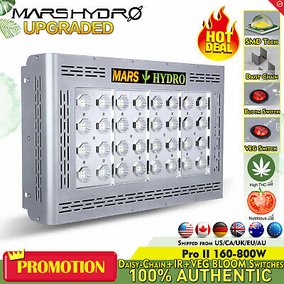 2PCS Mars Pro II 800W  LED Grow Light Full Spectrum for Indoor Veg Bloom Plants