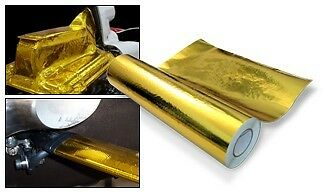 "GOLD HEAT REFLECTIVE FILM 24"" wide x 0.5M long, Self Adhesive"