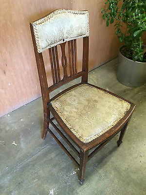 Antique Child's Chair Solid Wood with original Fabric Cushions