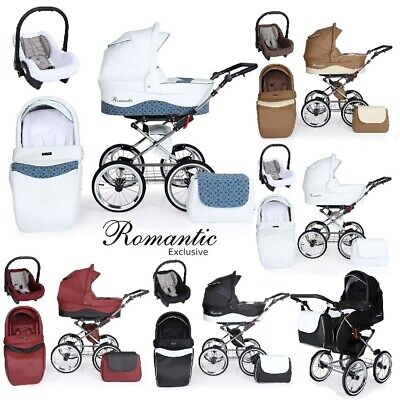 Romantic Baby Pram Leather Retro Travel System Car Seat New 6 Colours 2019