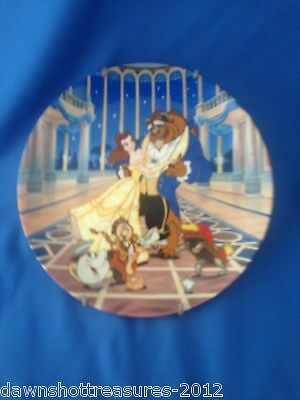 VINTAGE! 1992 Knowles Disney Beauty and the Beast Plate-Love's First Dance