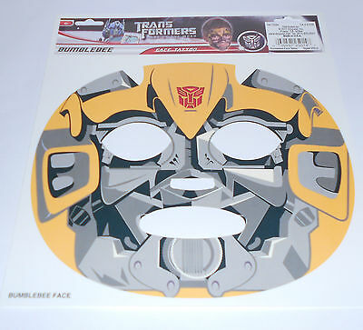 """Transformer """"Bumble Bee"""" Temporary face tattoo-costume-Halloween Mask"""