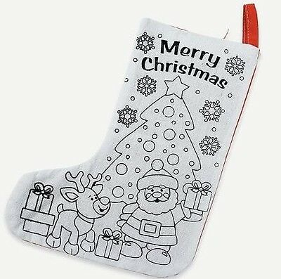 1 Color Your Own Christmas Stocking Craft Kids Gift