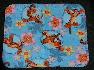Fleece Standard (Twin) Pillow Cover- Tigger Bounces Through The Daisies