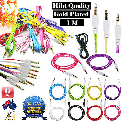 Audio Cable 3.5mm AUX CORD Male to Male Stereo for iPhone iPod iPad PC MP3 CAR