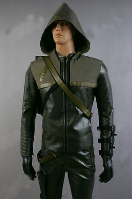 New Green Arrow Oliver Queen Cosplay Costume Custom Made all size