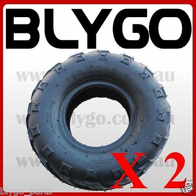 "2X QIND 4PLY 145/70 - 6"" inch Front Rear Tyre 90 110cc Quad Dirt Bike ATV Buggy"