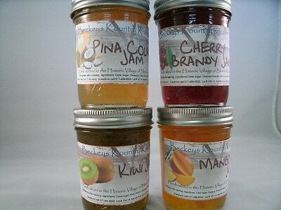 4 Pack, gift pack, Homemade  by Beckeys jam & jelly.Holiday gift, gourmet jam