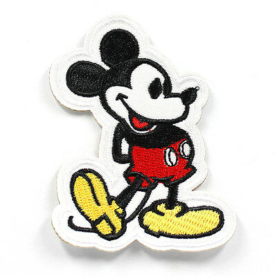 1pcs Classical Mickey Embroidered Iron/Sew ON Patch Kids Cloth Applique 3X2.25""