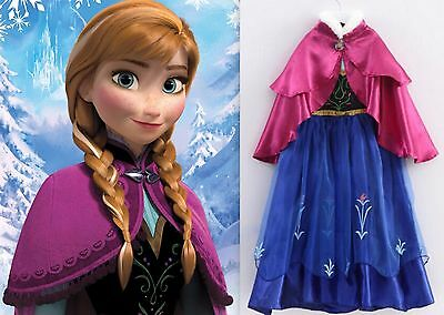 NEW Frozen INSPIRED ANNA Princess Dress Up Party Gown Girls Size 3/4 (S) Elsa