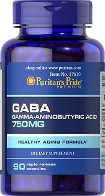 BPR049- GABA 750mg/90c. ANTI-STRES RELAJANTE MENTAL.  Puritans