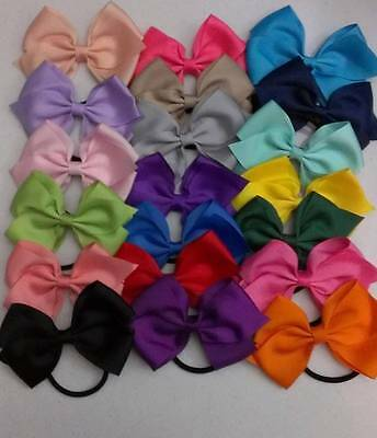 """Girl's Hand Made 4"""" Elastic Band Hair Bow  ~ Fast FREE Shipping #H24"""