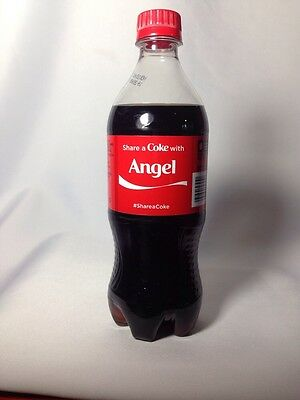 2014 Share a COKE with ANGEL Collectible 20 Oz Bottle RARE Coca-Cola Name HTF