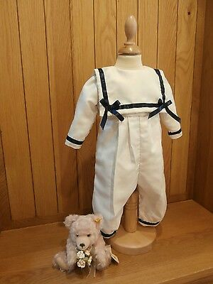 Christening Wedding Baptism Sailor Suit  Naming Dedication Gown Clothes