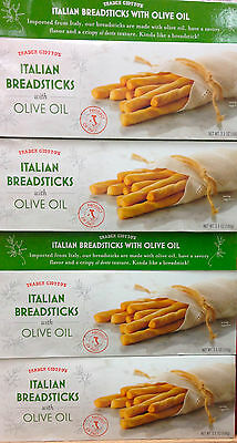 4 Boxes Trader Joe's Italian Breadsticks with Olive Oil Product of Italy 3.5ozBx