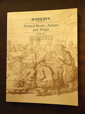 JAN/FEB 1988 SOTHEBYS LARGE CATALOGUE - PRINTED BOOK, ATLASES & MAPS