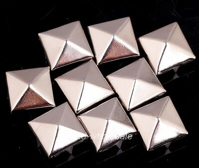 Wholesale 200Pcs Silver Pyramid Studs Rivet leather Craft Bags/Shoes/Clothes 5mm