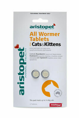 Aristopet All Wormer Worming Tablets for Cats & Kittens - 2 pack treats worms