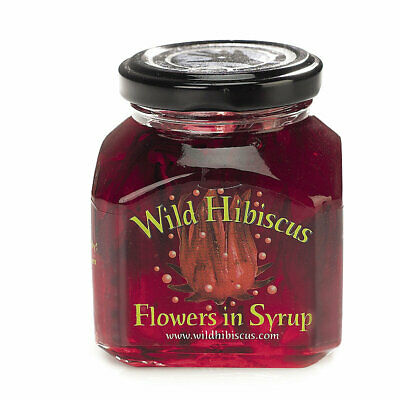 Wild Hibiscus Flowers in Syrup 250g (Approx 11 Flowers)