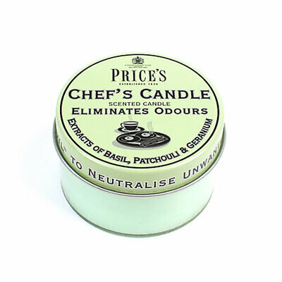 Prices Chef's Candle Tin Removes Cooking Odours - Burns up to 20 Hours