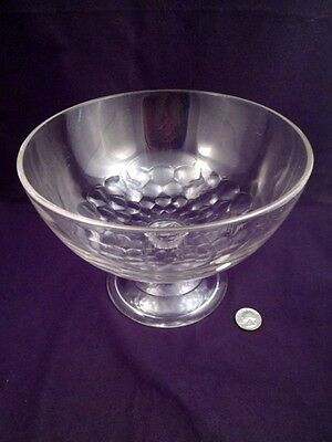 Large Scarce EAPG Honeycomb Pattern Bowl, Stemmed and Footed, Over 2 1/2 Lbs