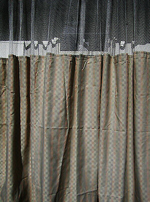 LOT OF 2 - (Pattern D) - HOSPITAL PRIVACY/CUBICLE CURTAINS  - FLAME RETARDANT