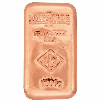 1 kg Kupferbarren für Anleger - 1 kilo copper bars for investors