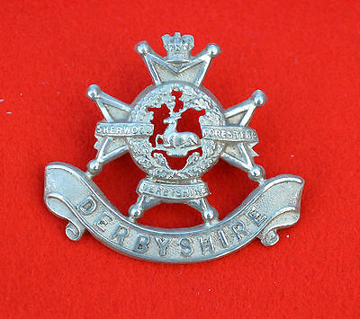 Sherwood Foresters Militia Battalion Officer's Victorian Cap Badge