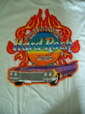 HRC Hard Rock Cafe Singapore God is my Copilot Cadillac City Tee White Size L nw