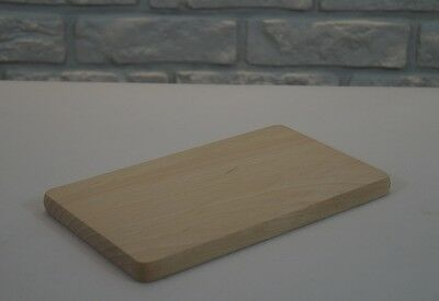Wooden Cutting Chopping Board breakfast, rectangle shapes SOLID BEECH WOOD £1.22