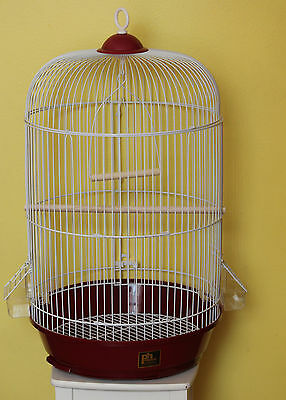 BIRD CAGE!!! NEW!!!PERFECT !!! REAL WOOD!!!! (red)