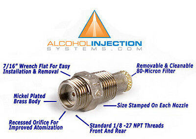 Water meth methanol alcohol injection nozzle fuel jet injector 75 gph